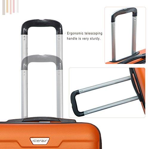 Merax Luggage Set 3 Piece Lightweight Spinner Suitcase (Orange) by Merax (Image #4)
