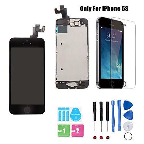 iphone 5s screen repair kit black - 4