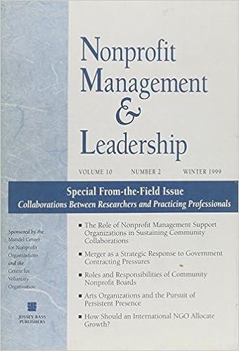 Nonprofit Management & Leadership, No. 2, Winter 1999 (J-B