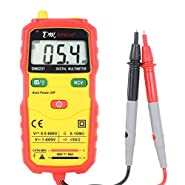 DMiotech Mini Auto Ranging Digital Multimeter w Automatic Recognition of Resistance, DC/AC Voltage, Continuity NCV Multi Meter Tester w LCD Display DM8231