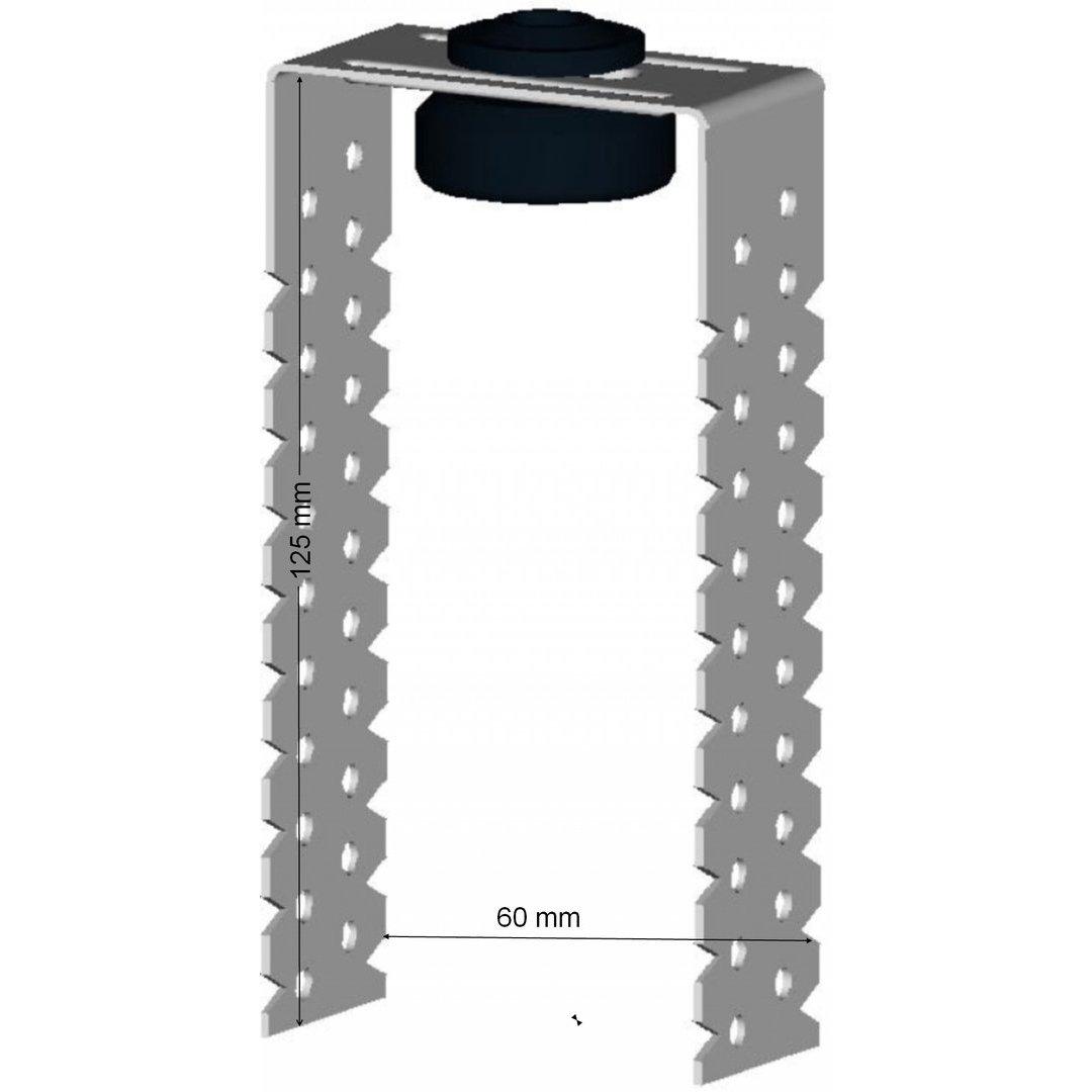 100 St/ück Direktabh/änger GK 125 f/ür C-Deckenprofile 125mm flach Trockenbau Rigips