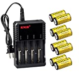 #10: FlashDealer CR123A Battery, 1800 mAh 3.7 Rechargeable Battery For Flashlight