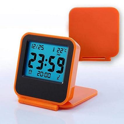 LZ Alarma Flip portátil Reloj electrónico Reloj de Viaje ...