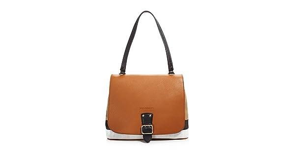 3543021ed28a Burberry Medium Shellwood Canvas Check Satchel Shoulder Bag Tan