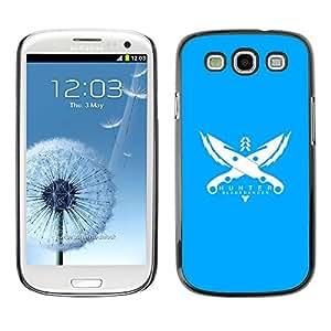 LECELL--Funda protectora / Cubierta / Piel For Samsung Galaxy S3 -- Cazador --