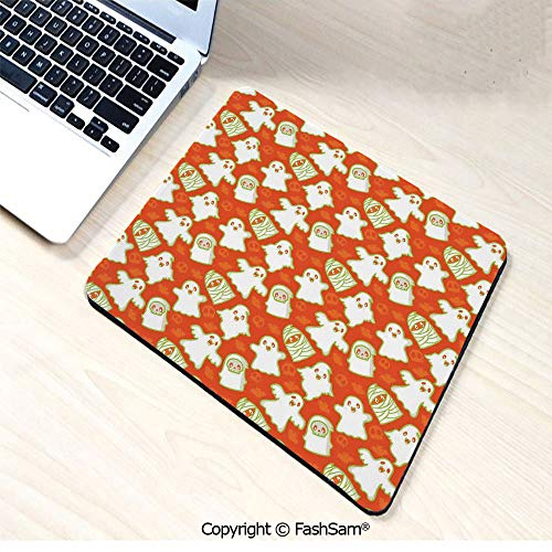 Personalized 3D Mouse Pad Funny Halloween and Demon Graphic on Skull and Bat Background Design Home Decorative for Laptop Desktop(W7.8xL9.45)]()
