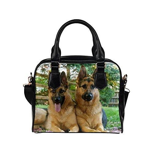 Angelinana Custom Women's Handbag Cute Pet German Shepherd Dog Fashion Shoulder Bag