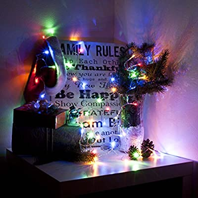 ALEKO® 40 LED 13 Feet Battery Operated String Lights Christmas Holiday Lights Multicolor Color, Lot of 5
