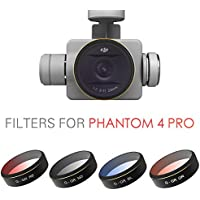 PGYTECH DJI phantom 4 Pro Accessories Lens Filters gradual color Orange Blue Red Gray HD Filter Drone gimbal RC Quadcopter parts