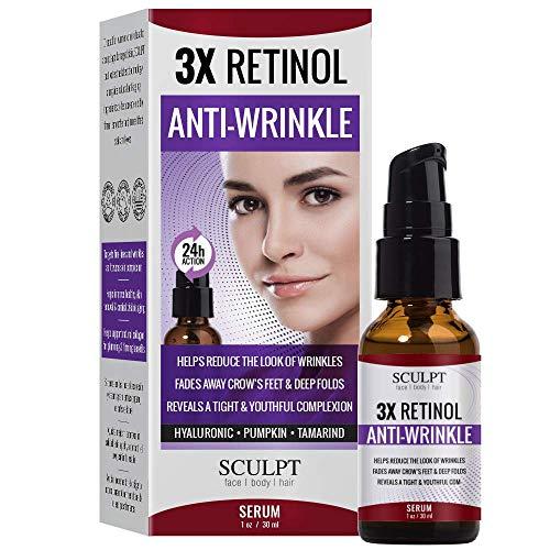SCULPT 3X Retinol Anti-Wrinkle Facial Serum 1oz / 30ml (Retinol Serum 3x)