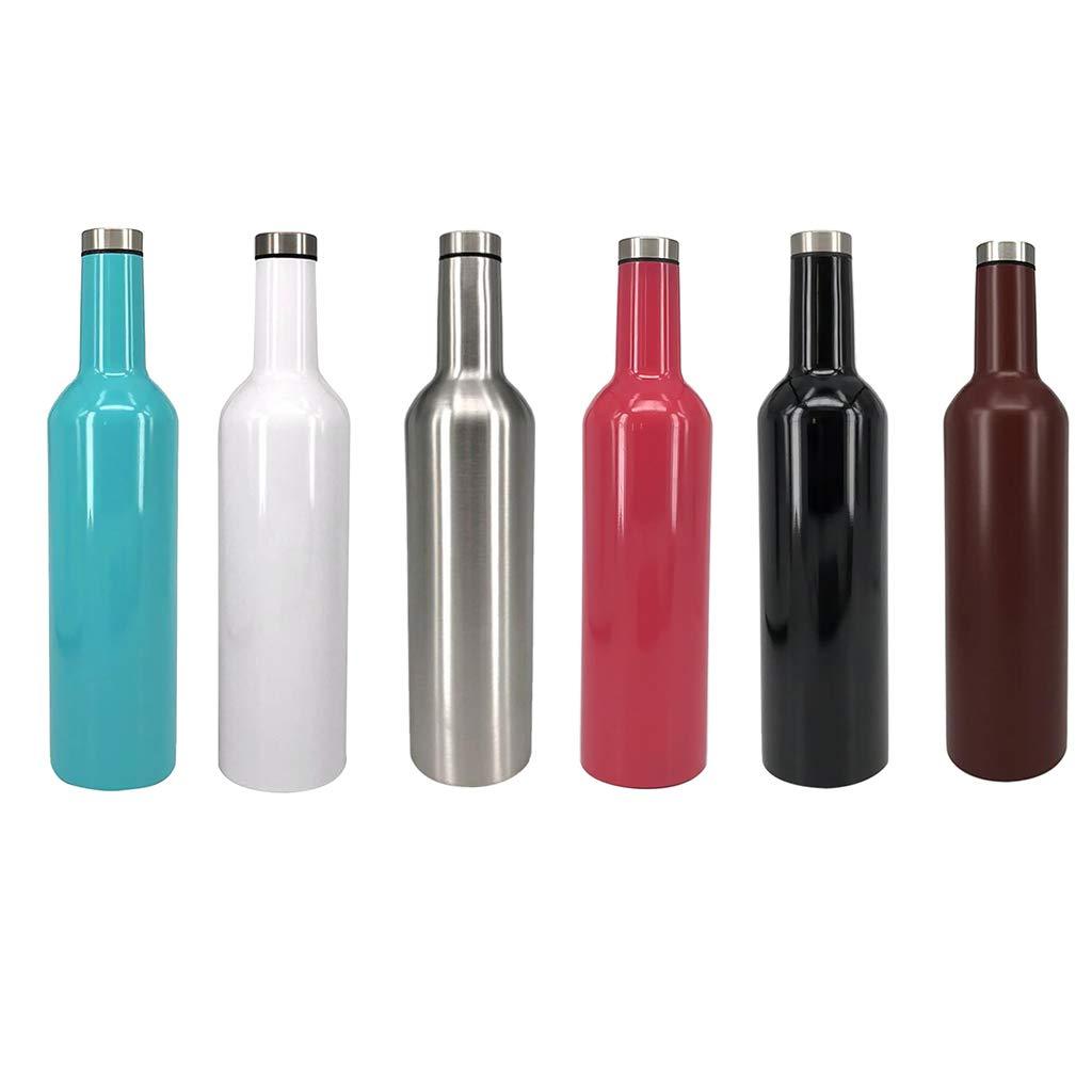 P Prettyia Portatile Borraccia in Acciaio Termica Bottiglia Sportive on Spazzola di Pulizia 750 ml Nero