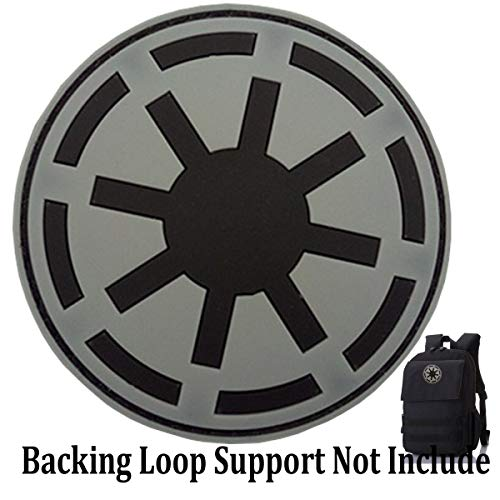 Star Wars Imperial Patch Galactic Empire Imperial Seal Patches PVC Morale Patch(Galactic Empire-Grey)]()