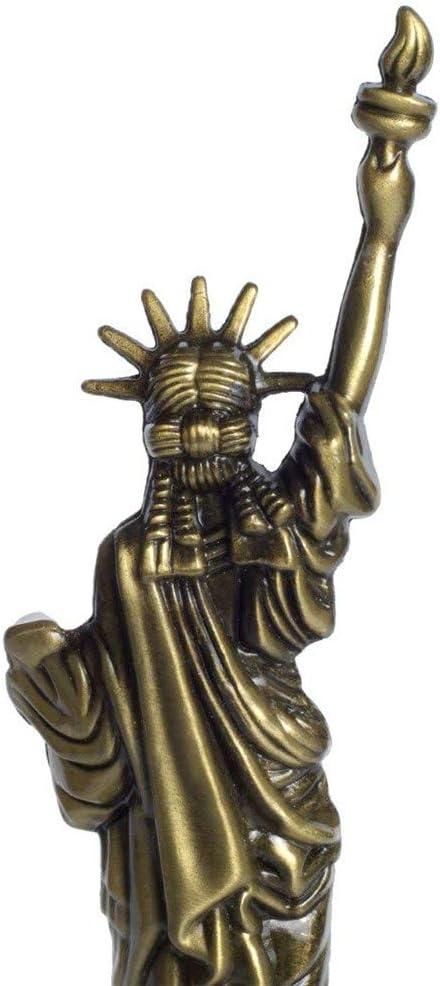 IMAX Estatua de Bronce de la Libertad Estatua Famosa Arquitectura Figura de sal/ón Vintage Decoraci/ón del hogar decoraci/ón de Escritorio Recuerdo 15,2 cm