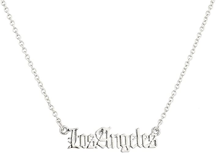 Lux Accessories Black Beautiful Rose Pendant Charm Simple Chain Necklace