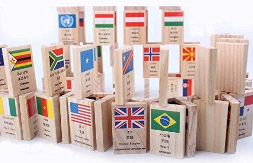 品質は非常に良い 新しい100個ロシア語英語中国語韓国語学習言語National Flag木製子供ドミノゲーム楽しく B071F33K9L、教育玩具ギフト B071F33K9L, ハッピーガーデン:d0425ff0 --- yelica.com