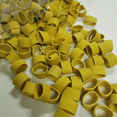 (JCS Lobster Claw Bands, 1 LB Bag (About 500 PCS.), Yellow)