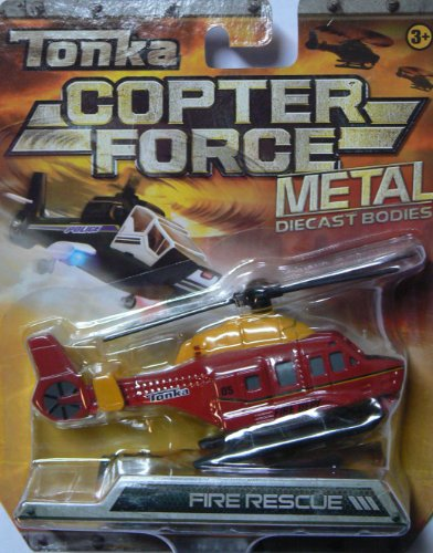 Tonka Copter Force Fire Rescue Helicopter Metal Diecast Bodies
