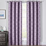 Royal Bedding Alana Purple Curtains, Top Grommet 100% Blackout, Thermal Insulated Window Curtain Panels, Pair/Set of 2 Panels, 54Wx84L inches Each, by