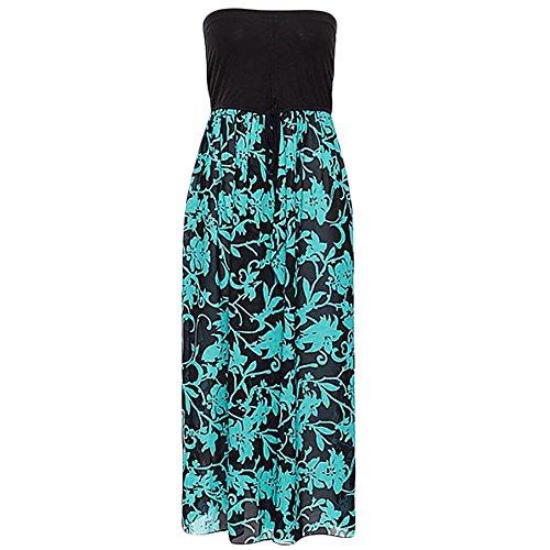 Long Open Shoulder Back Cover Beach Blue SUBWELL Summer Dress Women's Maxi Chiffon Off Up wqpB1TzfU