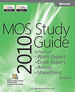 mos 2010 study guide for microsoft word excel powerpoint and rh amazon com microsoft word 2010 certification study guide microsoft word 2010 lesson 8-10 study guide