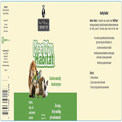 Natural Chemistry Healthy Habitat Pet Habitat Cleaner and Deodorizer, 1-Gallon by Natural Chemistry (Image #1)