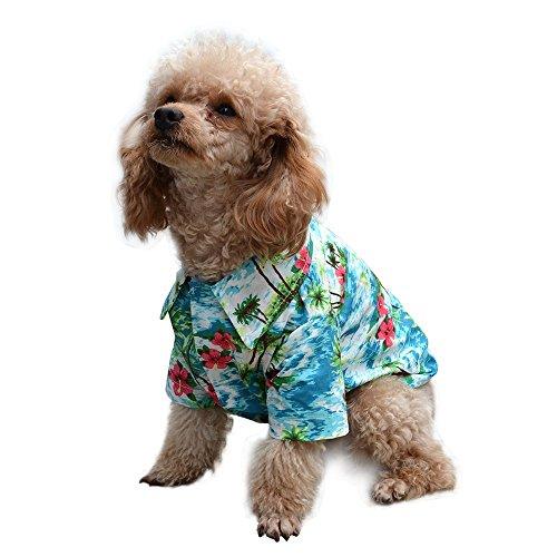 EXPAWLORER Hawaiian Pet Dog Polo T Shirts Cute for Small to