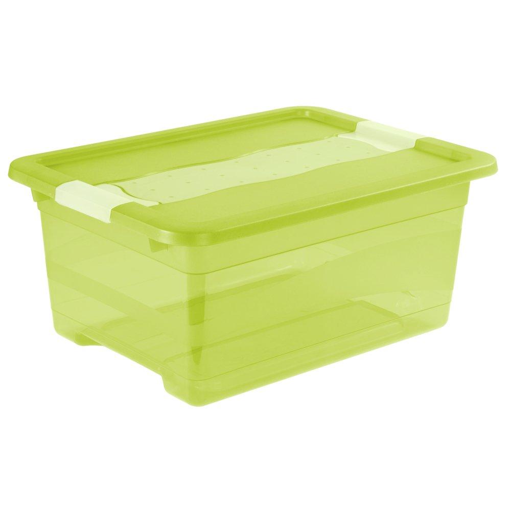 PP Verde Transparente OKT Cubos de almacenaje con Tapa 12 l