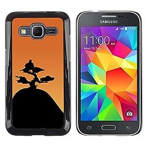// PHONE CASE GIFT // Duro Estuche protector PC Cáscara Plástico Carcasa Funda Hard Protective Case for Samsung Galaxy Core Prime / Montaña Bonsai /
