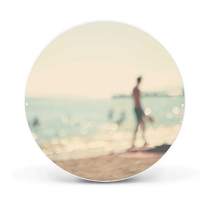 banjado - Pizarra magnética redondo 47 cm de diámetro de ...