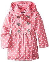 Pink Platinum Girls' Polka Dot Trench Jacket