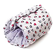 Travel Friendly Nursing Pillow, Slip On Arm Breastfeeding Pillow for Newborns & Older Babies :: Soft, Safe & Comfortable :: Reversible, Multi Use Nursing Cushion :: Includes Matching Carry Bag