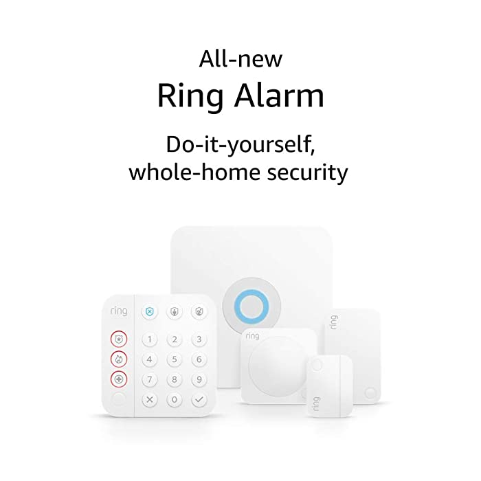 All-new Ring Alarm 5-piece kit (2nd Gen) – home security system with optional 24/7 professional monitoring – Works with Alexa