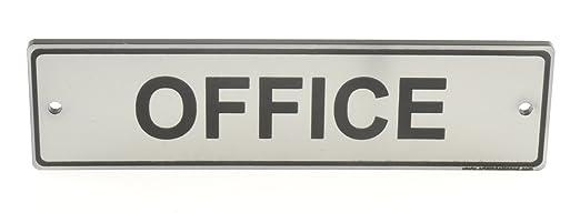 Letrero de puerta de oficina. Tamaño grande contemporáneo ...