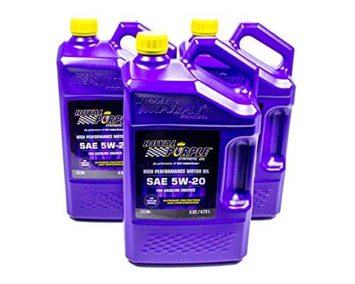 Royal Purple 53520 5W20 Multi-Grade SAE Oil3x5-qt Bottles 480. Fluid_Ounces