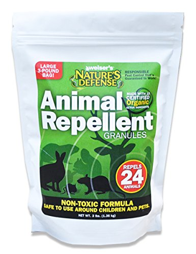 Bird-X Nature's Defense Organic All Animal and Pest Repellent, 44-Ounce, Covers 7,000 (Critter Ridder Liquid)