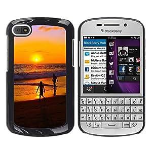 TopCaseStore / la caja del caucho duro de la cubierta de protección de la piel - Sunset Beautiful Nature 32 - BlackBerry Q10