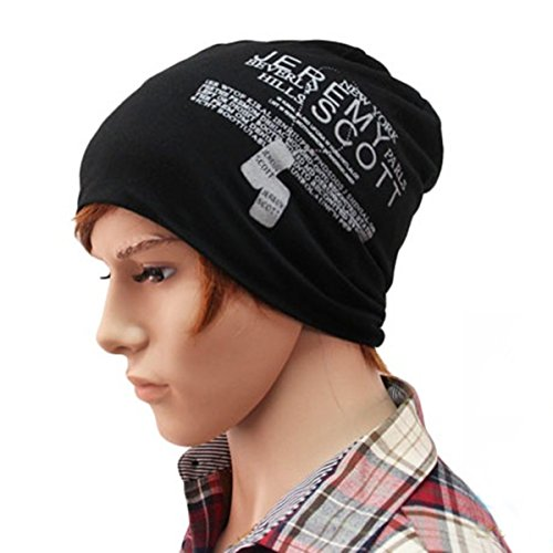 Thenice Unisex Beanie Cap Thin Hip-hop Daily Skull Hat (Black)