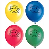 Unique 12-Inch Latex Curious George Balloons, 8ct