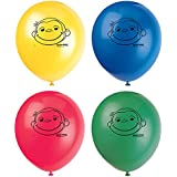 """12"""" Latex Curious George Balloons, 8ct"""