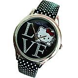 Hello Kitty LOVE Faux Leather Wrist Watch