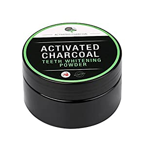 Teeth Whitening Powder,Prettymenny Natural Organic Activated Charcoal Bamboo Toothpaste (Black)