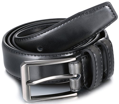 Gallery Seven Mens belt - Genuine Leather Dress Belt - Classic Casual Belt in gift box - 2 Pack - Burnt Umber & Black - Size 36 (Waist: 34) by Gallery Seven (Image #3)