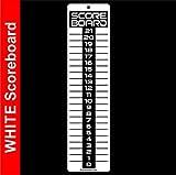 SCOREBOARD, Washers, Cornhole, Horseshoes, Bocce Ball~LARGE White