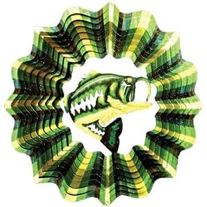"Designer Bass Fish Wind Spinner Size: 10"""