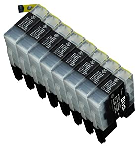 8 Pack Compatible LC-71 , LC-75 8 Black for use with Brother MFC-J280W, MFC-J425W, MFC-J430W, MFC-J435W, MFC-J5910DW, MFC-J625DW, MFC-J6510DW, MFC-J6710DW, MFC-J6910DW, MFC-J825DW, MFC-J835DW. Ink Cartridges for inkjet printers. LC-71BK , LC-75BK © Blake Printing Supply