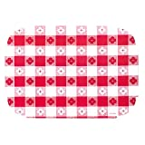 Red Gingham Paper Placemats   9.75 x 14 inches (50), red,white