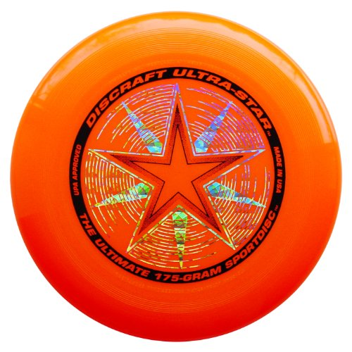 Discraft 175 gram Ultra Star Sport Disc, Bright Orange - Sport All Frisbee