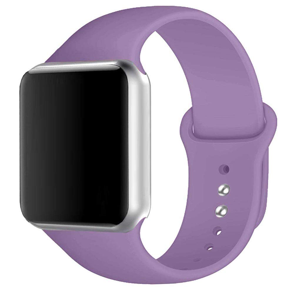 Winso Silicone Watch Band 38mm 40mm 42mm 44mm S/M M/L for Series 4/3/2/1 Lavender 38(40) mm S/M