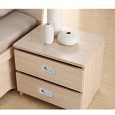 Probrico Flush Recessed Sliding Pocket Door Handles Oval 4-3/4in x1-3/5in Kitchen Cabinet Finger Pulls Brushed Nickel