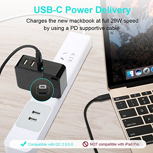 USB C PD Wall Charger, METRANS Power Delivery 41W Fast Charge PD Wall Charger for iPhone X/8 Plus/8, Macbook, Nintendo Switch, Samsung S8, Note 8 - stylishcombatboots.com